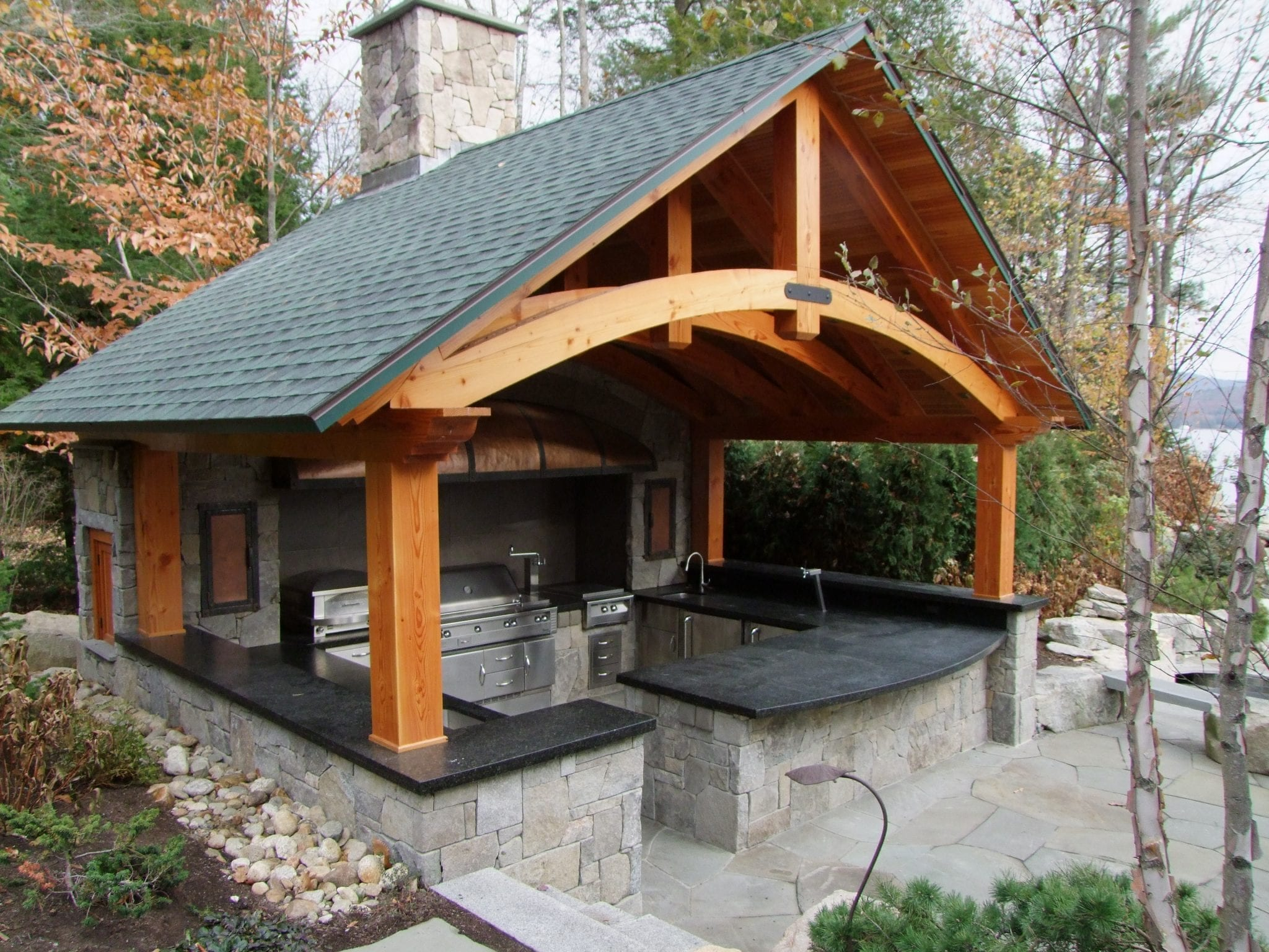 outdoor kitchen hooded